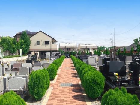 バリアフリー設計で安心な墓地です。