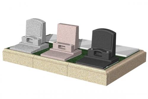 地面より一段高い花壇を設置したテラス墓所