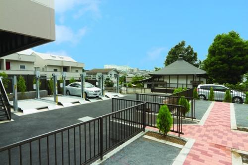 立体式と平坦式の駐車スペースには20台が駐められます。