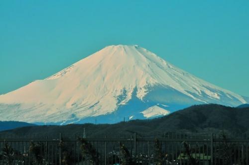 霊峰富士を望みます。