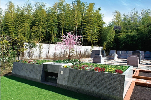 花と緑あふれる樹木葬