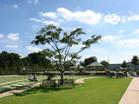園内で休憩もできます。