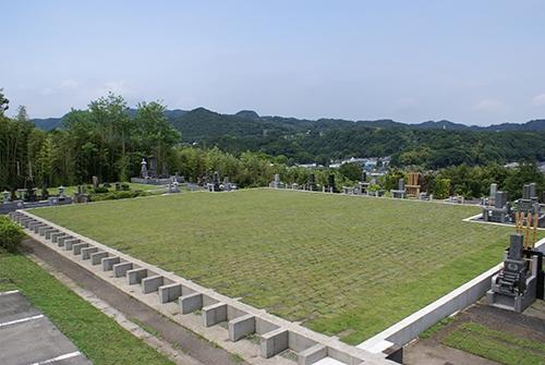 ゆとりの芝生を配した近年人気のゆとり墓所です。