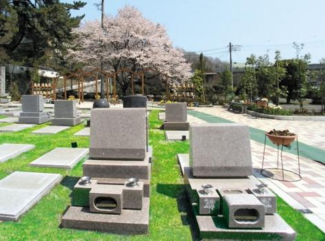 洋型の墓石です。