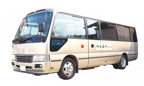 毎週土・日・祝日は1日5本の無料送迎車を運行。