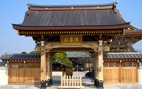 香積寺墓苑 入口。