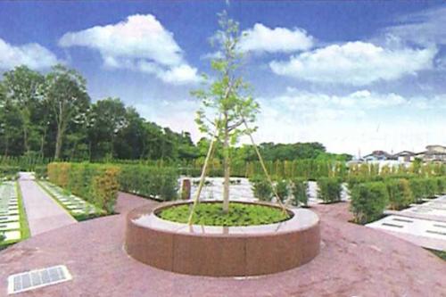 シンボルツリーや四季折々の植物にに彩られる園内
