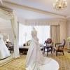 ご新婦様のお支度部屋である「ブライズルーム」。2万坪の庭園を眺めながら優雅にお支度。