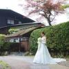 文化勲章を受章した建築家「村野藤吾」氏が設計した和風別館前にて。