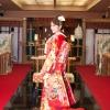 熱田神宮のご分霊が祭ってある神殿。挙式のような厳かな雰囲気での一枚。