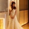 レースカートにリボンで女性らしさをひきたたせてくれる華やかなじジルスチュアート(JILLSTUART)のウエディングドレス!上質レースとふんわりフリルで気品漂う花嫁様に!