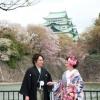 絶好の撮影スポット。四季折々の自然、名古屋城など自然を感じることができる場所。和装にぴったりの当ホテルのおすすめのロケーション撮影です。